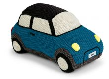 Original MINI Knitted Car Hatch gestricktes Kissen Island / blau - MINI Kollektion 2018/2020