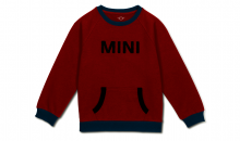 Original MINI Kinder Sweatshirt Pullover Loop Wordmark Kids Chili Red/Island - Kollektion 2020