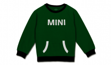 Original MINI Kinder Sweatshirt Pullover Loop Wordmark Kids British Green/Schwarz - Kollektion 2020