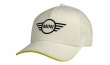 Original MINI Contrast Edge Wing Logo Cap Kappe Mütze Unisex Weiß / Energetic Yellow - Kollektion 2021