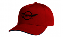 Original MINI Contrast Edge Wing Logo Cap Kappe Mütze Unisex Chili Red Rot / Island - Kollektion 2021