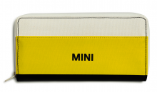 Original MINI Wallet Geldbeutel Geldbörse Portmonee Tricolor Weiß / Schwarz / Energetic Yellow Gelb - Kollektion 2020