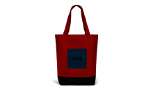 Original MINI Tricolour Block Shopper Tasche Chili Red/Schwarz/Island - Kollektion 2020