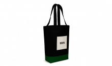 Original MINI Tricolour Block Shopper Tasche Schwarz/British Green/Weiß - Kollektion 2020