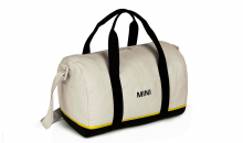 Original MINI Duffle Bag Tasche Weekender Tricolor Block Weiß / Schwarz / Energetic Yellow - Kollektion 2020