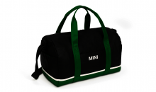 Original MINI Duffle Bag Tasche Weekender Tricolor Block Schwarz / British Green / Weiß - Kollektion 2020