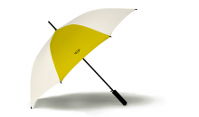 Original MINI Regenschirm Stockschirm Contrast Panel Walking Stick Umbrella Energetic Yellow - Kollektion 2020