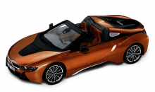 Original BMW i8 Roadster Modellauto / Miniatur 1:43 in E-Copper Kupfer met.