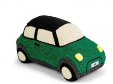 Original MINI JCW Knitted Car Kissen gestrickt British Green grün - Kollektion 2020