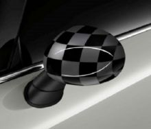 Original MINI Außenspiegelkappen Checkered Flag Black/Grey für MINI F54 F55 F56 F57