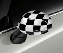 Original MINI Außenspiegelkappen Checkered Flag Black/White für MINI F54 F55 F56 F57