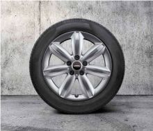 "Original MINI F60 Winterkomplettradsatz JCW Star Spoke silver R539 17"" Bridgestone o.RSC m.RDC"