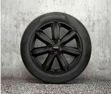 "Original MINI F60 Winterkomplettradsatz JCW Star Spoke black R539 17"" Bridgestone o.RSC m.RDC"