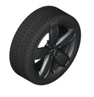 "Original MINI F60 Winterkomplettradsatz Channel Spoke black R531 17"" Bridgestone m.RSC m.RDC"