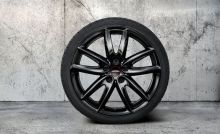 "Original MINI F60 Sommerkomplettradsatz JCW Grip Spoke 815 black Goodyear 18"" m.RSC m.RDC"
