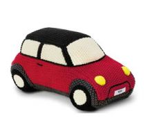 Original MINI JCW Knitted Car Kissen gestrickt Chili Red rot 2017/19