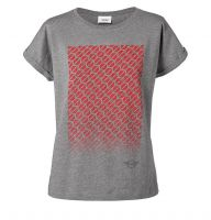Original MINI Signet T-Shirt Women's Damen grau / coral / rot MINI Kollektion 2018/2020