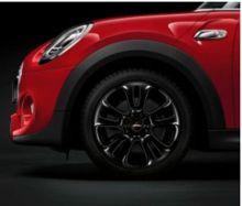"Original MINI F55 F56 F57 Winterkomplettradsatz JCW Double Spoke 510 black 17"" Dunlop m.RSC m.RDC"