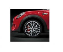 Orig. MINI Alufelge F55 / F56 / F57 Cross Spoke 506 JCW glanzged. sw 18 Zoll n. für JCW Sportbremse
